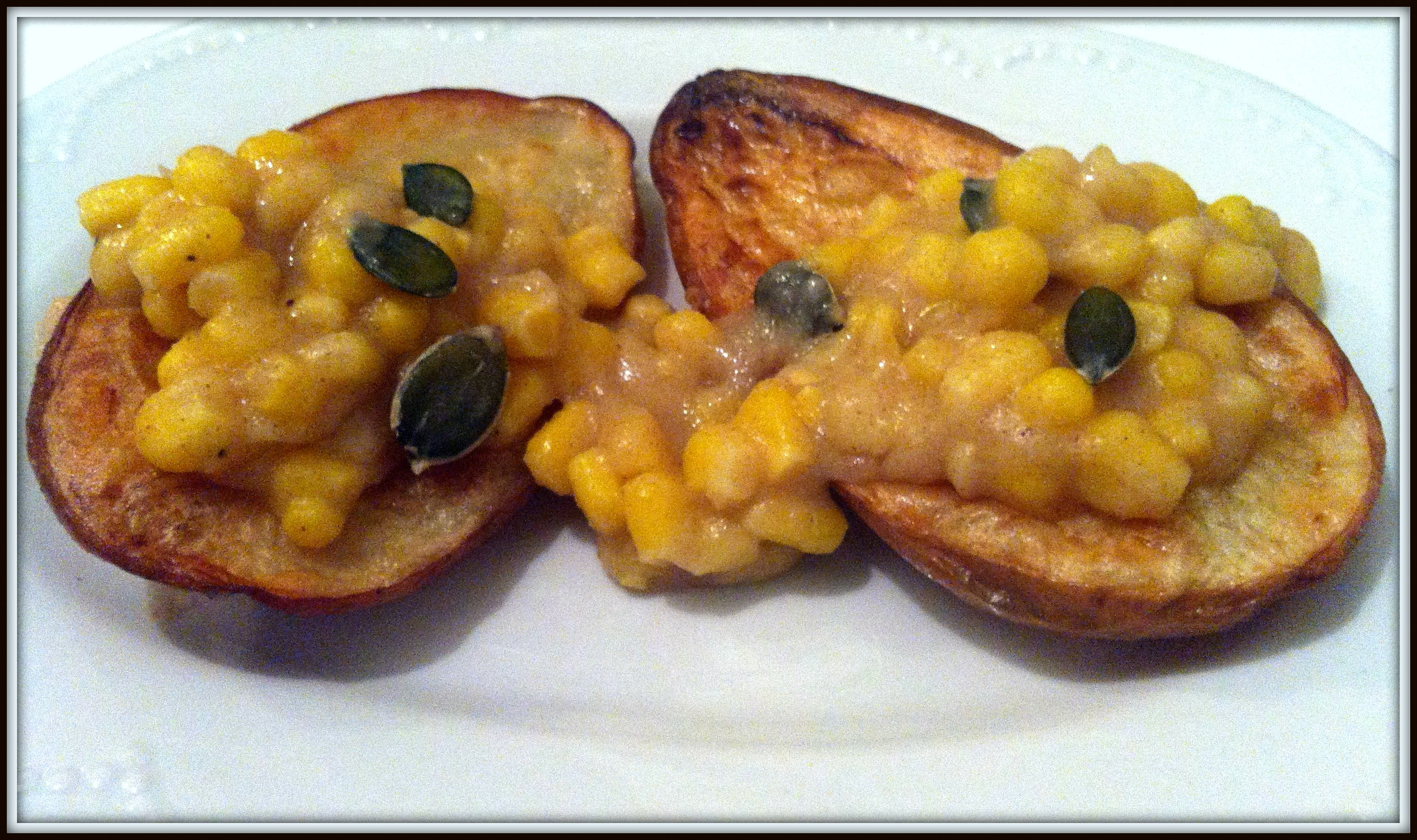 bakes potatoes with creamy corn topping recipe by yaeli shochat