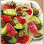 Vegan Greek Salad with Vegan Feta Cheese Recipe by Vegan Slaughterer Yaeli Shochat