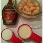 vegan Lychee - coconut smoothie