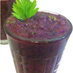 Back-to-reality purple smoothie