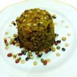 Vegan recipe - Brown rice with baby spinach, peas and sprouted lentils-mung beans by Yaeli Shochat