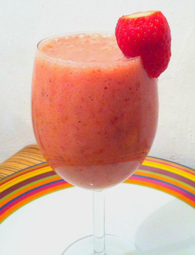 Fantasy smoothie with Strawberry banana & dates vegan recipes by Yaeli Shochat