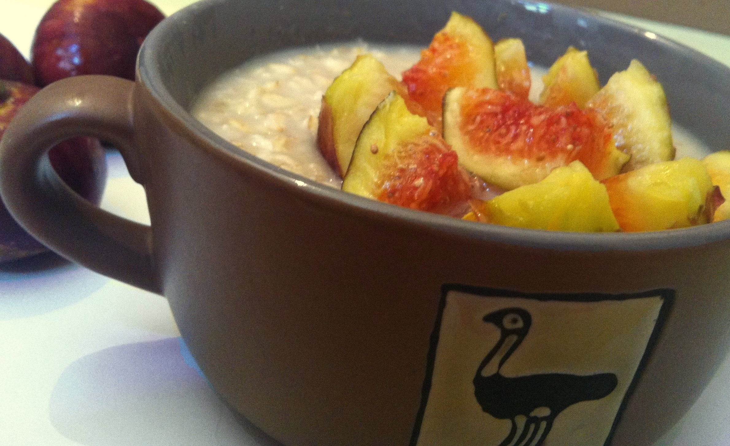 End of summer fig and oatmeal breakfast bowl - Vegan Recipes - Vegan Slaughterer Yaeli Shochat 2-1