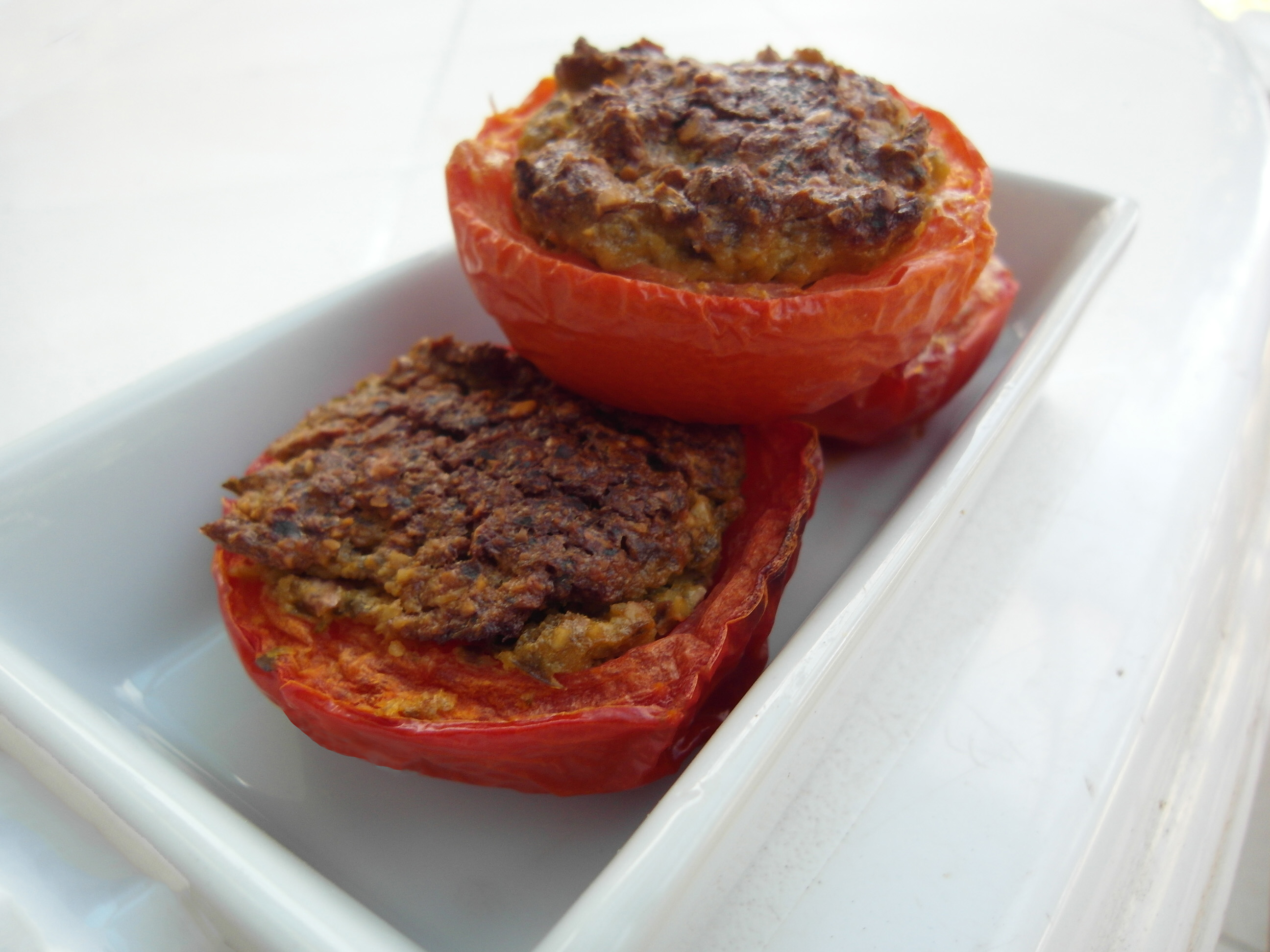 How to make Incredible Stuffed Mushrooms and Tomatoes Vegan Gluten-free Low fat VEGAN RECIPES by VEGAN SLAUGHTERER Yaeli Shochat http://veganslaughterer.com